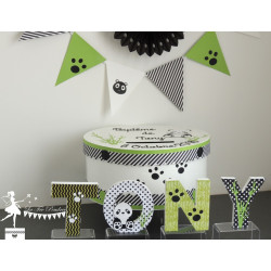 Urne ESSENTIELLE vert pomme noir & blanc panda