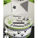 Urne ESSENTIELLE panda vert pomme noir & blanc