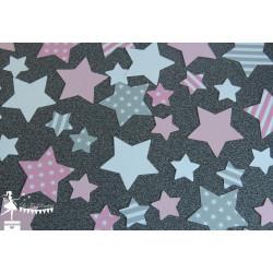 Sachet de confetti étoile rose, gris et blanc