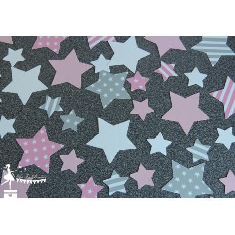 Sachet de confetti étoile bleu pastel, gris et pétrole