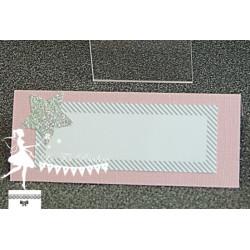 10 Marque places Etoile rose, gris, blanc et argent