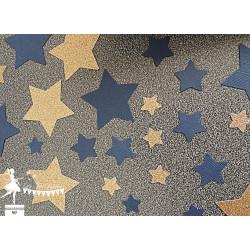 Sachet de confetti étoile bleu marine et doré
