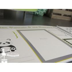 Livre d'or ESSENTIEL Panda noir, blanc et vert