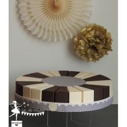 Gateau de dragées 24 parts chocolat et ivoire