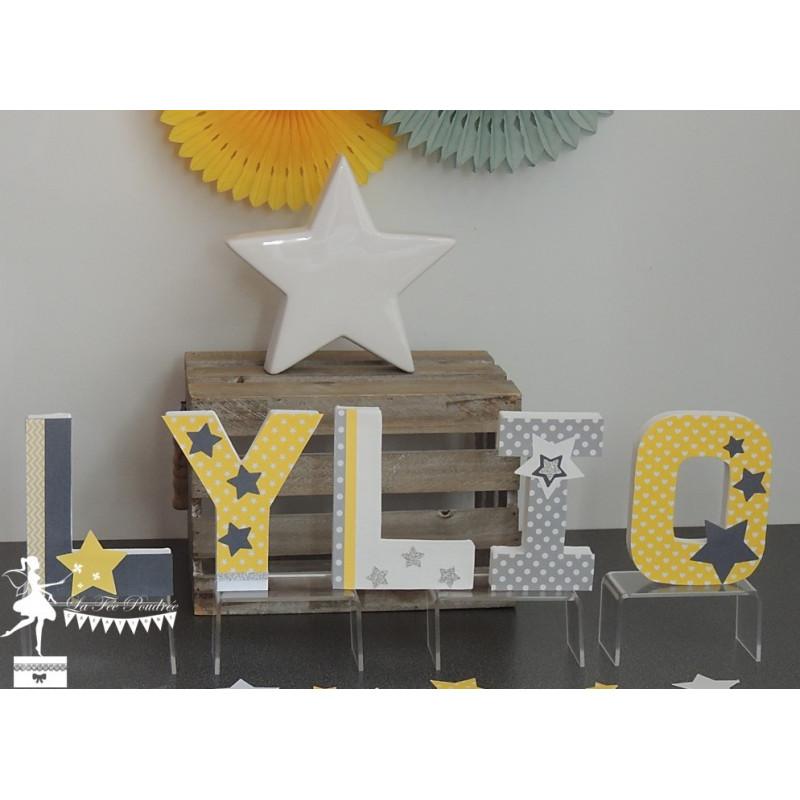 Guirlande Décoration Étoiles Chambre enfant deco babyzimmer turquoise gris garçon