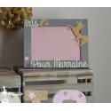 1 Cadre parrain/marraine thème licorne rose et doré