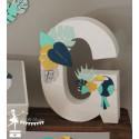 1 Initiale 30 cm thème Tropical toucan