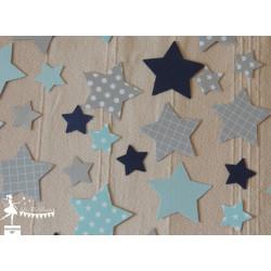 Sachet de confetti étoile bleu pastel, gris et marine