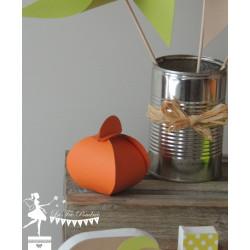 Boîte à dragées Lingot orange