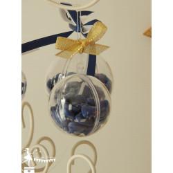 Boîte à dragées transparente boule 6cm