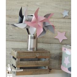 Urne ESSENTIELLE Nuage étoile rose gris et blanc
