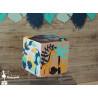 Cube de naissance en bois thème jungle