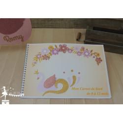 Carnet de naissance Cygne rose gold, ivoire et doré