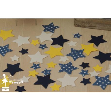 Sachet de confetti étoile marine, jaune et blanc