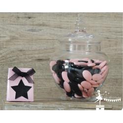 Boite à dragées rose nacrée...