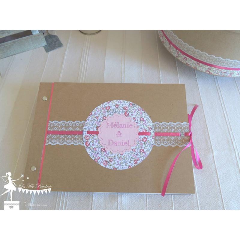 Livre D Or Mariage Relie Kraft Liberty Eloise La Fee Poudree