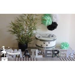 Urne Essentielle panda noir et blanc vert mint