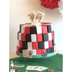 Présentation Casino rouge, noir et blanc
