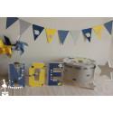 Présentation Le Petit Prince bleu marine, jaune argent