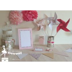 Ensemble menu Liberty Eloise rose, moulin à vent