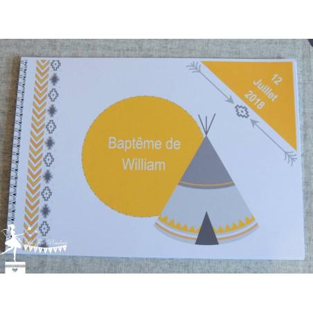 Livre d'or ESSENTIEL Indien jaune et gris
