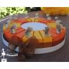 Gateau de dragées 24 parts orange et jaune