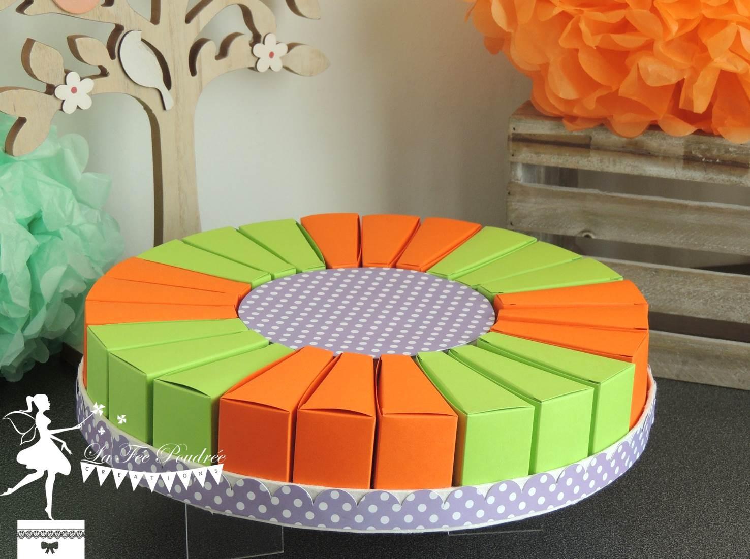 Chambre Chocolat Et Vert Anis gateau de dragées vert anis et orange - la fée poudrée