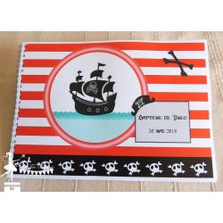 Livre d'or ESSENTIEL Pirate rouge noir et blanc