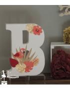 Lettres prénom décorées 30 cm