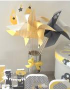 Moulins à vent décorés