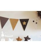Fanions décorés - La Fée Poudrée