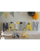 Lettres prénom décorées 20 cm
